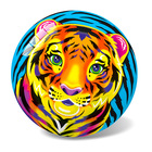 Tigris mintás gumilabda - 23 cm