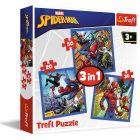 Trefl: Pókember 3 az 1-ben puzzle - 20,36, 50 darabos