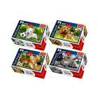 Trefl: kisállatok 54 darabos miniatűr puzzle - többféle