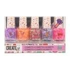Create it! Set lac de unghii cu confeti - 5 piese