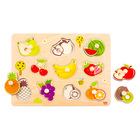 Tooky Toy: Gyümölcspárosító fa puzzle