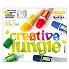 Creative Jungle: 6 darabos tubusos tempera készlet kifestővel - 6 x 7 ml