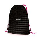 Oxybag: Pöttyös tornazsák - fekete-pink