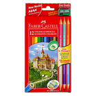 Faber-Castell: Set creioane colorate - 12+3 buc.