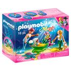 Playmobil Magic: Familie de sirene cu cărucior de scoică - 70100