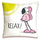Nici: pernă decorativă cu model flamingo - 37 x 37 cm