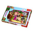 Masha and the Bear: puzzle maxi cu 24 piese