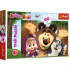 Masha and the Bear: Ziua fericită a lui Masha Prietenie - puzzle cu 60 piese