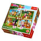 Trefl: Mása és a medve - Mása erdei kalandja 4 az 1-ben puzzle