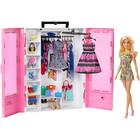 Set de joacă Dulap haine cu păpuşă, Barbie Fashionistas