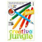 Creative Jungle 12 darabos jumbo háromszögletű színes ceruza