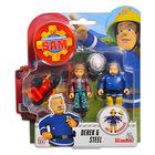 Set cu figurine Pompierul Sam, Derek şi Steele
