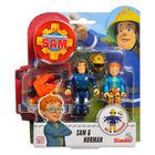 Set cu figurine Pompierul Sam, Sam şi Norman