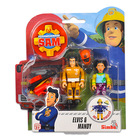 Set cu figurine Pompierul Sam, Elvis şi Mandy