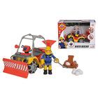 Jucărie Winter Mercury Quad cu figurină Sam, Pompierul Sam - 12 cm