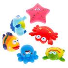 Jucărie de baie, Animale colorate, 6 piese