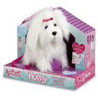 Animagic: Fluffy sétáló kutyus plüssfigura - 22 cm