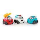 Set 3 mașinuțe Vroom, Smoby Planet - vehicule de urgență