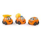Set 3 mașinuțe Vroom, Smoby Planet - utilaje