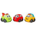 Set 3 mașinuțe Vroom, Smoby Planet - mașinuțe colorate