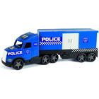 Wader: Magic Truck Action sötétben világító rendőrkamion - 81 cm