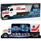 Camion ambulanță Magic Truck fluorescent, Wader - 81 cm