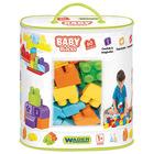 Set 60 cuburi de construcție baby în gentuță, Wader