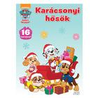Carte de colorat Paw Patrol - Eroi de crăciun, cu abțibilduri, în limba maghiară