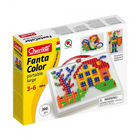 Quercetti: Fanta Color szögletes pötyi tárolódobozban - házikós, 300 db-os