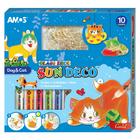 Amos: Kutya és cica mintás üvegmatrica festék szett - 10 db