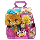 Figurină de pluș Shimmer Stars, Cățelușul Bubble cu baghetă magică,
