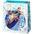 Prințesele Disney: Frozen pungă cadou înalt - 40 x 20 x 55 cm