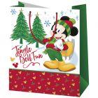 Mickey egér karácsonyi álló dísztasak - 17 x 10 x 23 cm