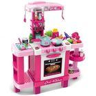 Bucătărie de jucărie cu sunet și lumini - 39 de accesorii, roz