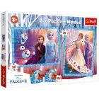 Trefl: Frozen 2 - puzzle și joc de memorie 2-în-1