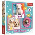 Trefl: Kölyök kutyák 3 az 1-ben puzzle