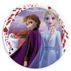 Disney hercegnők: Jégvarázs levél mintás, 8 darabos papírtányér - 23 cm