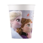 Set de 8 pahare Prințesele Disney, Frozen - 200 ml