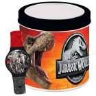 Jurassic World: karóra fém díszdobozban Fekete-Piros