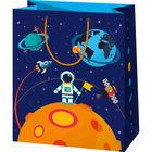 Űrhajós mintás álló dísztasak - 26 x 13 x 33 cm