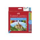 Faber-Castell: Kétoldalú színes ceruza készlet, 24+ 3db-os