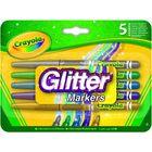 Crayola: Set markere cu sclipici - 5 buc.
