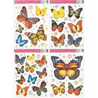 Öntapadós pillangós ablakmatrica 42 x 30 cm - többféle