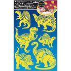 Fluoreszkáló dinók falmatrica 41 x 29 cm