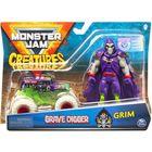 Monster Jam: Grave Digger kisautó Grim figurával