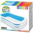 Intex: Felfújható családi medence 262 x 175 x 56 cm - kék-fehér