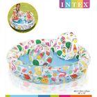 Intex: Gyümölcsös gyermek medence szett ( medence, labda, úszógumi) - 122 x 26 cm