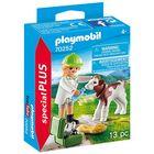 Playmobil: Veterinar cu vițel 70252