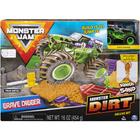 Monster Jam: Grave Digger set cu maşinuţă