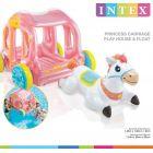 Intex: Hercegnő hintó lovacskával gyermek gumimatrac szett - 145 x 135 x 104 cm